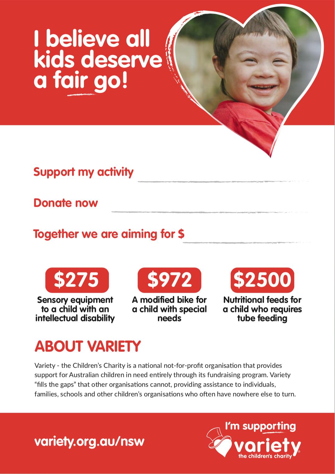 Variety Fundraising Poster (Editable)