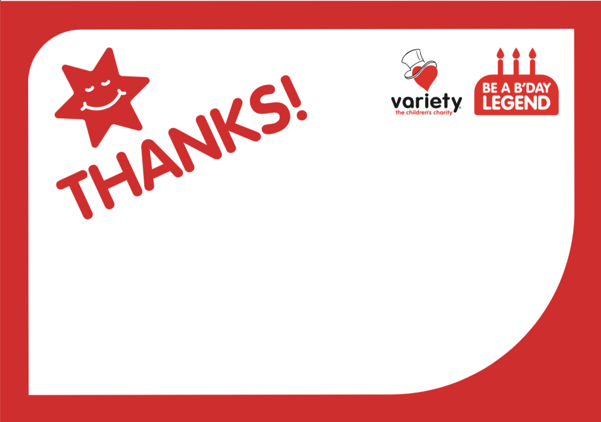 Thank you card (Red)